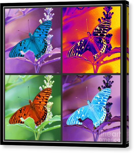 Butterfly Collage Canvas Print