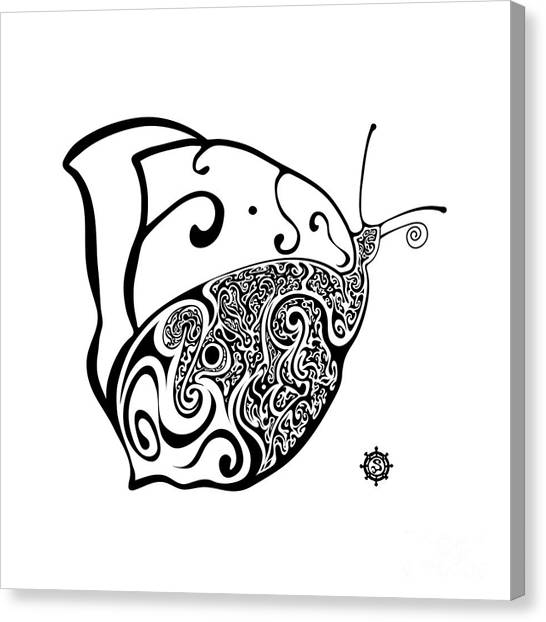 Butterfly Canvas Print by Santi Goma Rodriguez