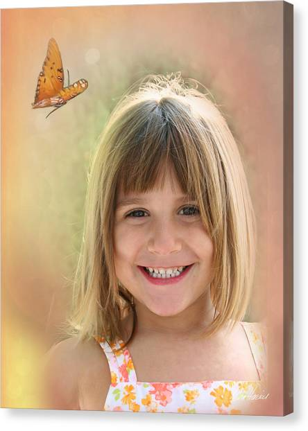 Butterfly Smile Canvas Print
