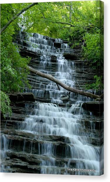 Buttermilk Falls Canvas Print by Tina Karle