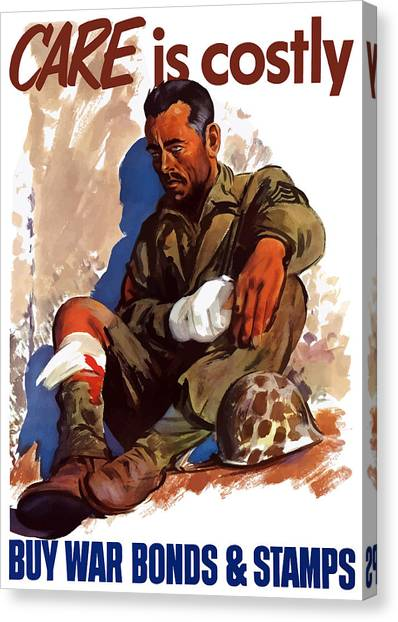 Health Care Canvas Print - Buy War Bonds And Stamps by War Is Hell Store