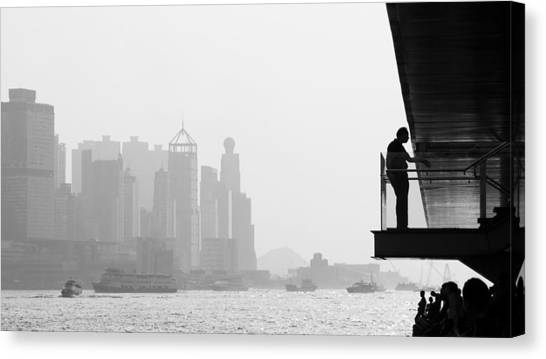 Bw City  Canvas Print by Kam Chuen Dung
