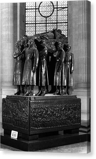 Bw France Paris Invalides Marshal Foch Tomb 1970s Canvas Print by Issame Saidi