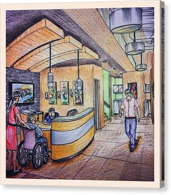 Painters Canvas Print - By @sonammomin #dentalclinic #sketch by Alveen Momin