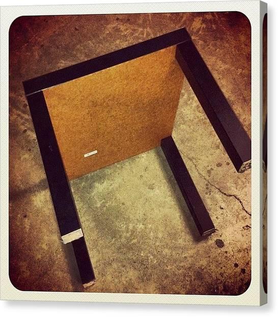Saws Canvas Print - Bye Bye Table Legs! #jessops #work by Mike Hayford