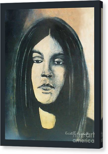 C. J. Ramone The Ramones Portrait Canvas Print by Kristi L Randall