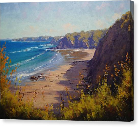 Cabbage Canvas Print - Cabbage Tree Bay Nsw by Graham Gercken