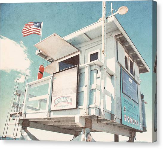 Lifeguard Canvas Print - The Cabin by Nastasia Cook