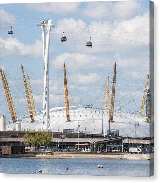 Oysters Canvas Print - #cablecar #emirates #london #uk #europe by Dhaval Patel