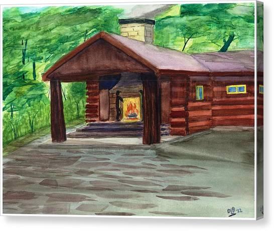 Caddy Camp Canvas Print