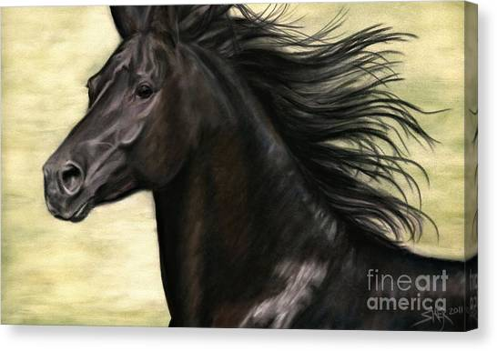 Canvas Print featuring the pastel Cadence by Sheri Gordon