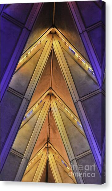 Cadet Chapel Detail Af Academy Canvas Print