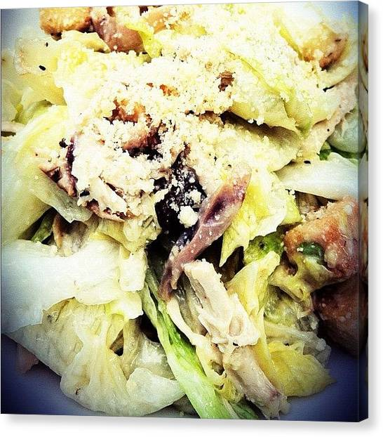 Salad Canvas Print - Caesar Salad - #food #salads by Abid Saeed