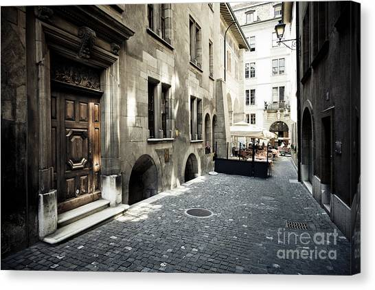 Cafe Geneve Canvas Print