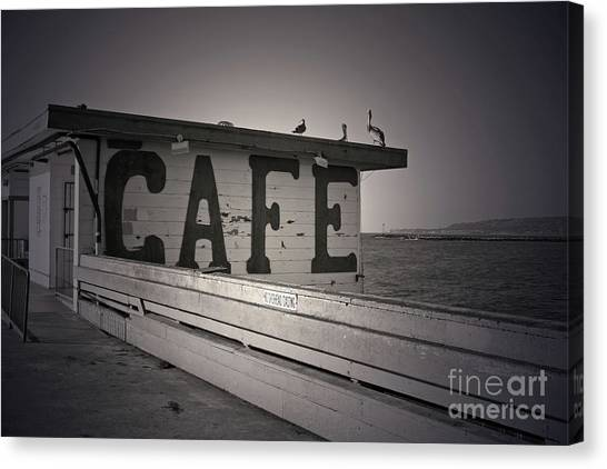 Cafe On The Pier Canvas Print