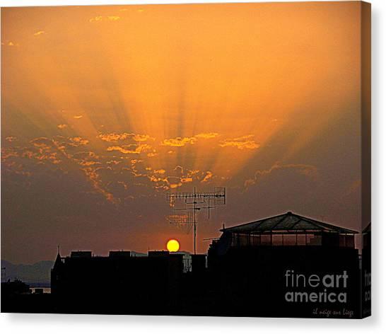 Cagliari Il Sole Muore Canvas Print