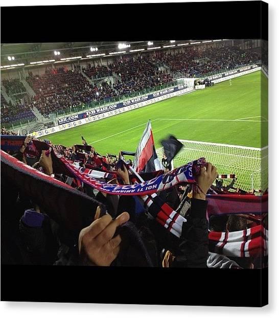 Stadiums Canvas Print - Cagliari Napoli - Curva Nord! #cagliari by Luca Ferretti