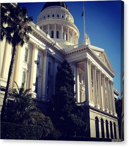 Sacramento State Canvas Print - Cali Capitol by Javari Jackson