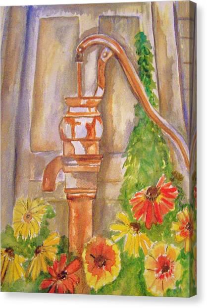 Calico Water Pump Canvas Print