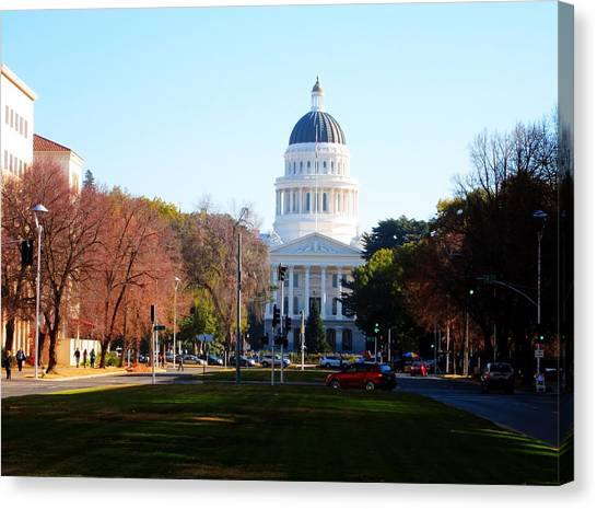 California Capitol Building-3 Canvas Print by Barry Jones