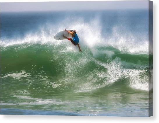 Surfboard Canvas Print - California Surfing 1 by Larry Marshall