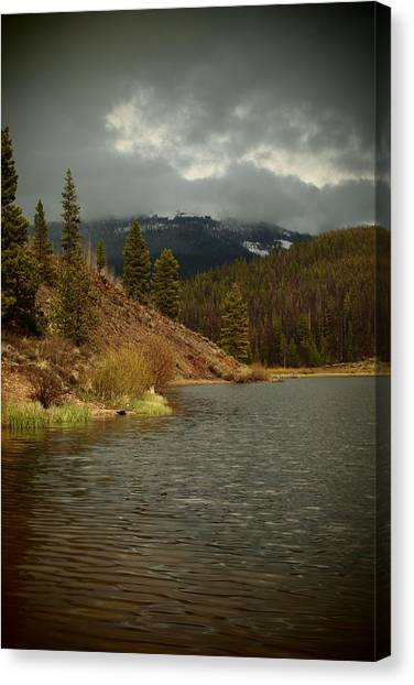 Calm Before The Storm Canvas Print by Joyce Specht