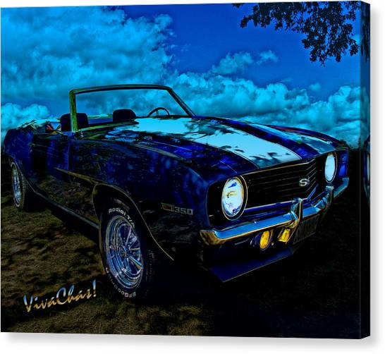 Camaro In Moonglow Canvas Print