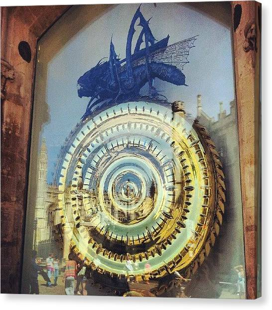 Steampunk Canvas Print - #cambridge #steampunk #clock by Christelle Vaillant