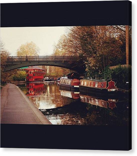 London Canvas Print - #camden #camdencanal #camdentown by Ozan Goren