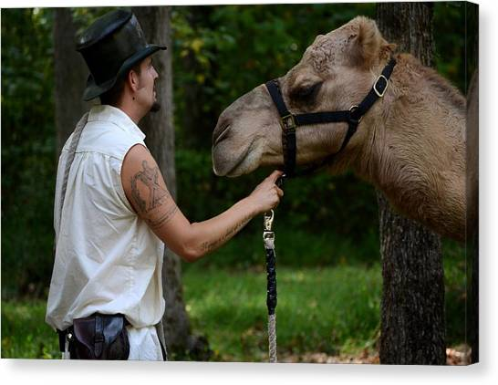 Camel Keeper Canvas Print by Eamon Forslund