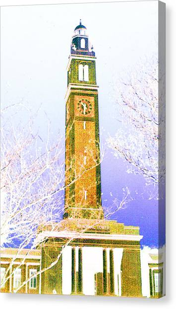 Campanile At Louisiana State University Canvas Print