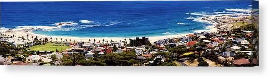 Cape Town Canvas Print - Camps Bay Beach by Fabrizio Troiani
