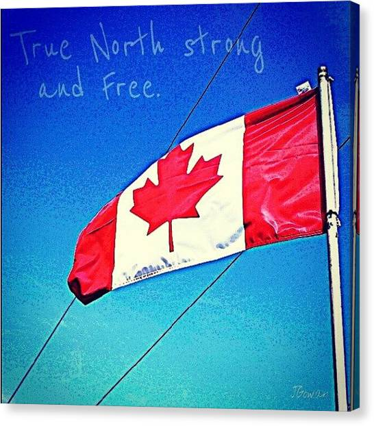 Flying Canvas Print - Canada. #canada #flag #canadaflag by Jess Gowan