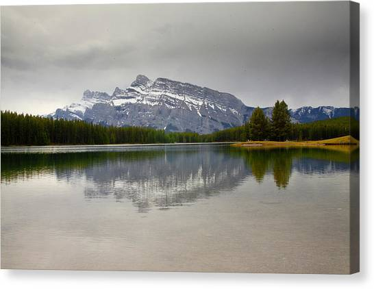 Canadian Lake 1733 Canvas Print by Larry Roberson