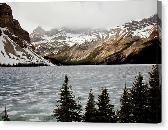 Canadian Lake 1899 Canvas Print by Larry Roberson