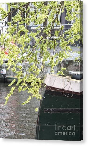 Canal Scene  Canvas Print