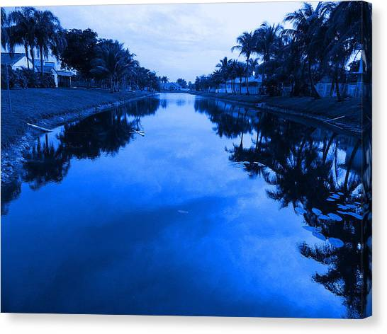 Canal View Canvas Print by Val Oconnor
