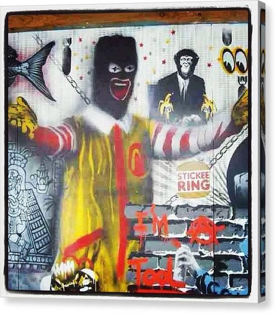 Bananas Canvas Print - #canart #spraycan #graffitiart by Nigel Brown