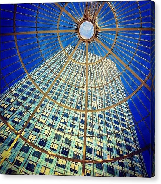 Skyscrapers Canvas Print - Canary Wharf Gold by Samuel Gunnell
