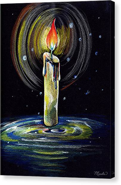Candel On The Water  Canvas Print