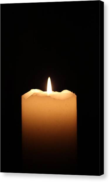 Candle Canvas Print by Bogdan Constantin Petrovici