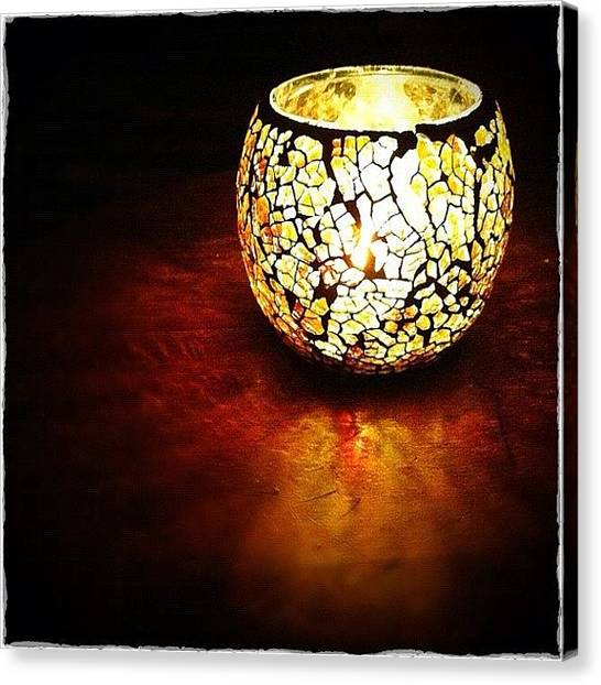 Flames Canvas Print - Candle by Marc Gascoigne