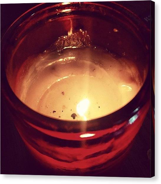 Flames Canvas Print - Candle by Paul Hoaksey