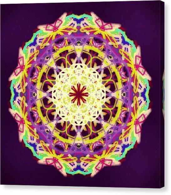 Pastel Canvas Print - Candy Light Mandala by Vicki Field