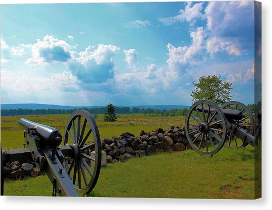 Cannons Canvas Print by Justin Mac Intyre