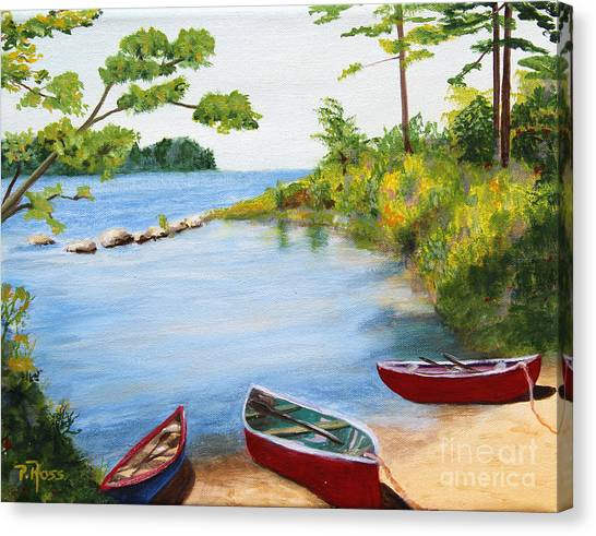 Canoe Inlet Canvas Print by Pauline Ross