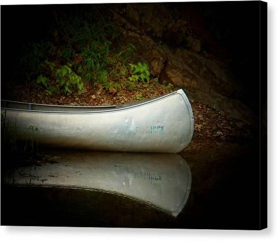 Canoe Canvas Print by Joyce Kimble Smith