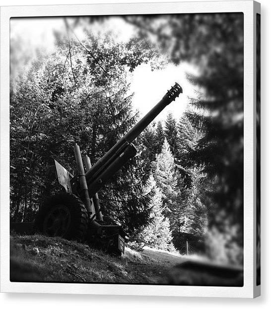 Swiss Canvas Print - Canon D'artillerie Datant De La by Philippe Kunz