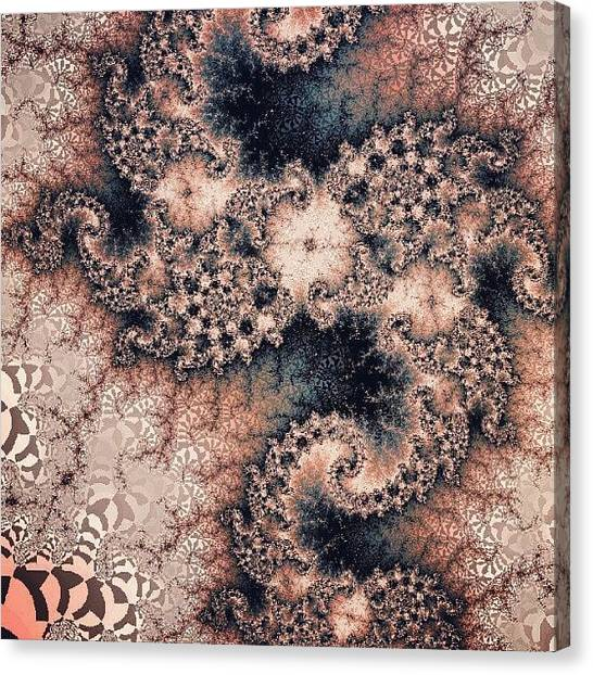 Fractal Canvas Print - Can't Believe I Forgot #fractalfriday by Jacob Bettany