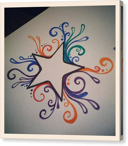 Colorful Canvas Print - Cant Wait To Finish This Up With My New by Mandy Shupp